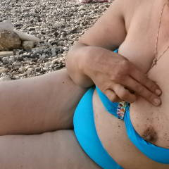 Small tits of my wife - exhib plage