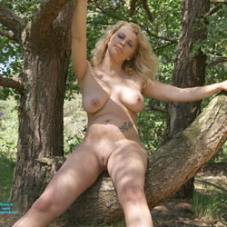 Adri In The Woods - Big Tits, Blonde, Nature, Shaved