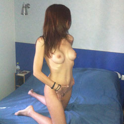 Kneeling Hot And Naked On Bed - Brunette Hair, Firm Tits, Full Nude, Hard Nipple, Nipples, Showing Tits, Hot Girl, Naked Girl, Sexy Body, Sexy Face, Sexy Feet, Sexy Figure, Sexy Girl, Sexy Legs, Sexy Woman