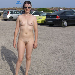 Nude On The Park - Brunette Hair, Exposed In Public, Nude In Public , Just Nude On A Car Park With A Surprise.