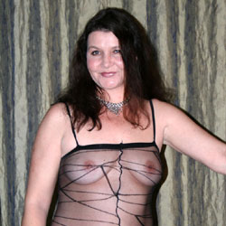 42 yo Rene In Bodystocking 1 - Big Tits, Brunette, Lingerie, MILF, Mature