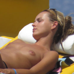 Sleeping Topless At The Beach - Blonde Hair, Erect Nipples, Exposed In Public, Firm Tits, Nude Beach, Showing Tits, Small Breasts, Small Tits, Sunglasses, Topless Beach, Topless Girl, Topless Outdoors, Topless, Beach Voyeur, Hot Girl, Sexy Body, Sexy Figure, Sexy Girl, Sexy Legs, Sexy Woman, Young Woman