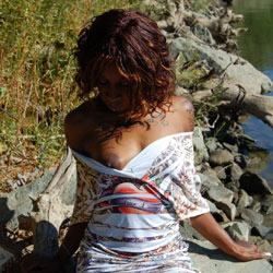 At The River - Dressed, Ebony, Nature