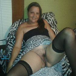 Black Thigh Highs - Brunette, Lingerie, Bush Or Hairy