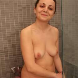 Medium tits of my wife - Martina