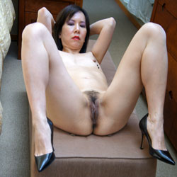 Carolyn Jane's Asian Meat Flaps - Asian Girl, Brunette Hair, Hairy Bush