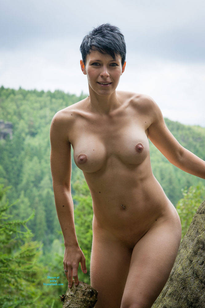 Nude On The Rock - Big Tits, Brunette Hair, Nude In Public , Thanks To All You Guys For All The Nice Comments And Rating. Here Some Photos With Me Nude On A Rock Stone. Kisses, Jenny.
