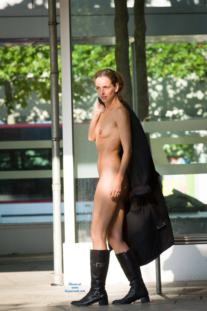 Pic #6 Bus Stop - Flashing, Public Exhibitionist, Public Place, Shaved