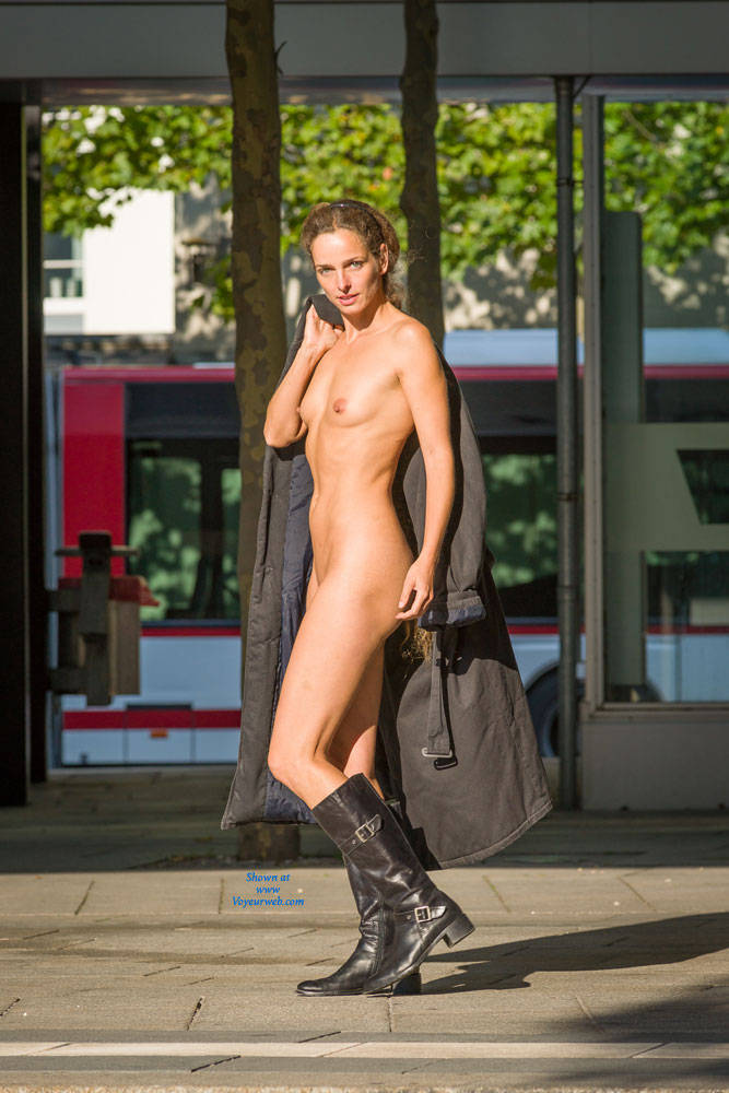 Pic #7 Bus Stop - Flashing, Public Exhibitionist, Public Place, Shaved