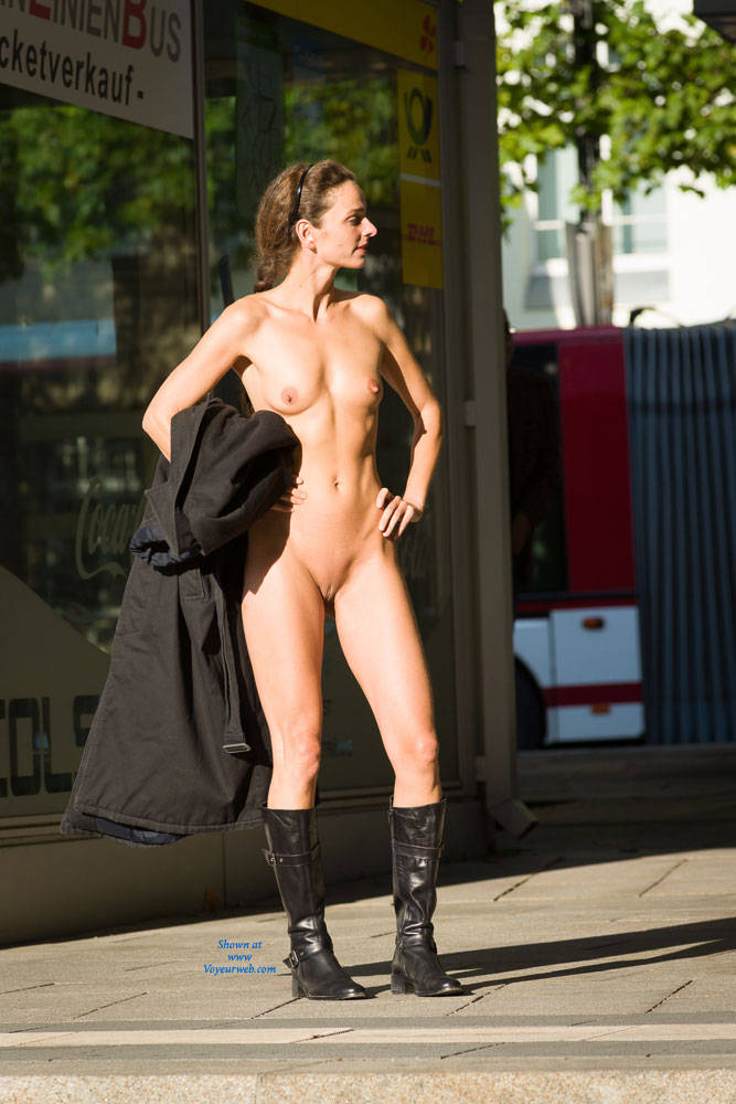 Pic #8 Bus Stop - Flashing, Public Exhibitionist, Public Place, Shaved