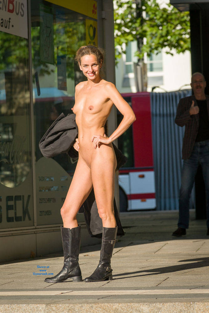 Bus Stop - Exposed In Public, Flashing, Nude In Public, Shaved , Thanks For All Your Friendly Comments To My First Contribution. Hope You Like This Pictures With Me Flashing On A Bus Stop.