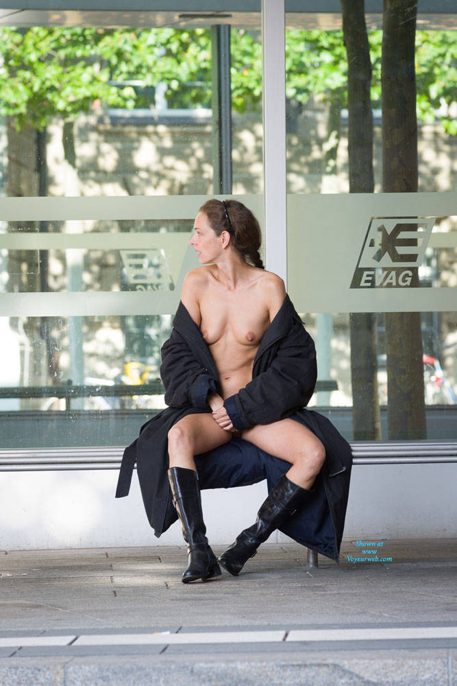 Pic #10 Bus Stop - Flashing, Public Exhibitionist, Public Place, Shaved