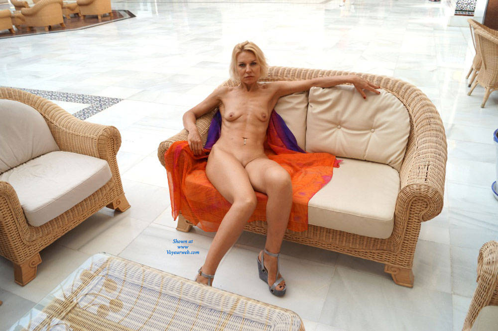 Pic #4 Spain - Blonde, Public Exhibitionist, Public Place, Shaved