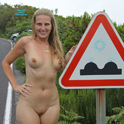 Bri's Madeira Tour - Blonde, Public Exhibitionist, Public Place, Shaved