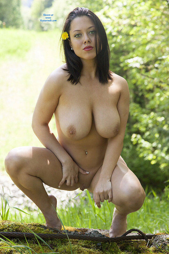 Pic #5 DDD's At The Park - Big Tits, Brunette, Nature, Shaved