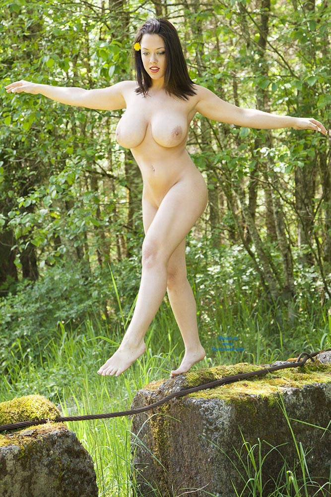 Pic #6 DDD's At The Park - Big Tits, Brunette, Nature, Shaved