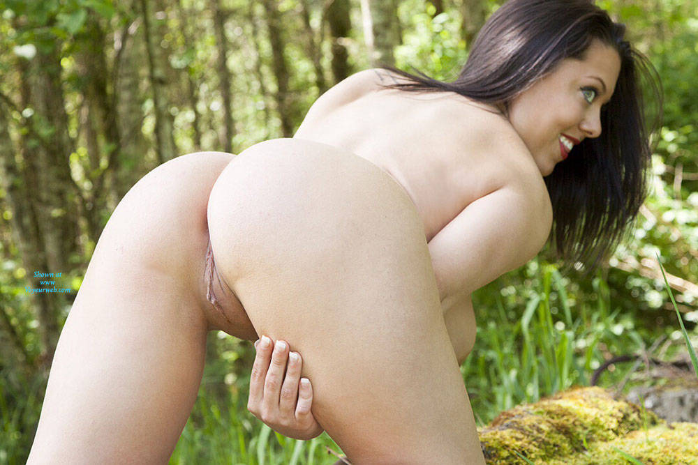 Pic #10 DDD's At The Park - Big Tits, Brunette, Nature, Shaved