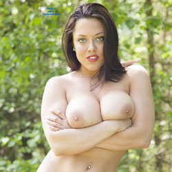 DDD's At The Park - Big Tits, Brunette, Nature, Shaved