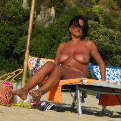 Nudist Italy - Beach, Big Tits, Brunette