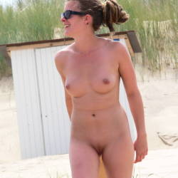 Real Beach Beauty - Big Tits, Beach Voyeur , Summer Last Year. On A Warm Day This Young Beauty Appears And Play Some Beach Ball Nude In Front Of Me.