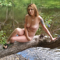 Sexy Young Brunette Has A Dirty Mind - Nature, Brunette, Tattoos