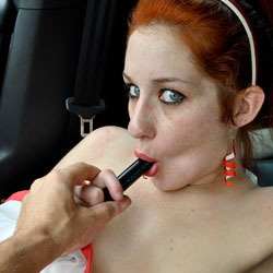 Dirty Playing In The Car - Navel Piercing, Shaved, Toys