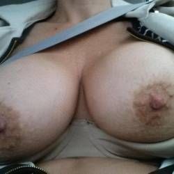 Very large tits of my wife - Kathy13