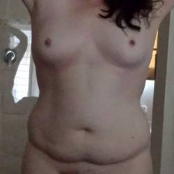 Medium tits of my wife - bbw ZA wife