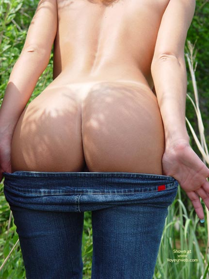 Pic #1 - Ass And Jeans, Ass And Jeans, Naked Butt, Butt In The Nature, Button Butt, Exposed Outside