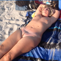 First Time Naked In Public - Beach, Wife/Wives