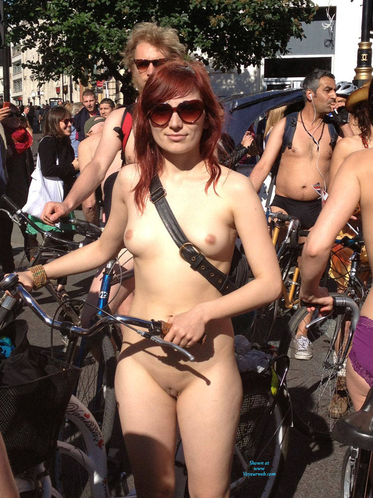 Naked Bike Ride Babe - September, 2014 - Voyeur Web-8794