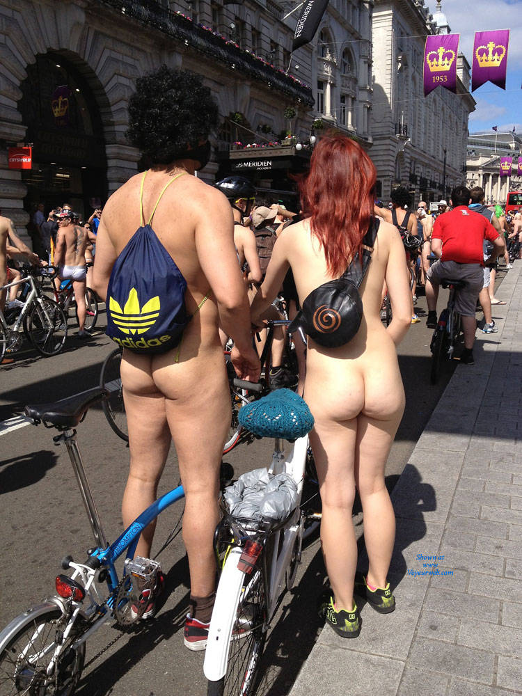 Butt naked bikers