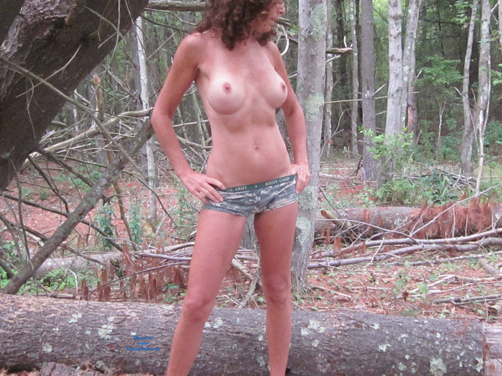 Pic #1 - Dojo In The Woods - Big Tits, Nude In Public, Shaved , I Enjoyed Being In The Woods, Feeling The Cool Autumn Breeze On My Naked Body.  Only Thing Better Would Be A Hot Guy Willing To Join Me Or Better Yet A Hot Guy And Girl!  If I Get A Good Score And Lots Of Nice Comments, Then Maybe My Next Post Will Show That:-)