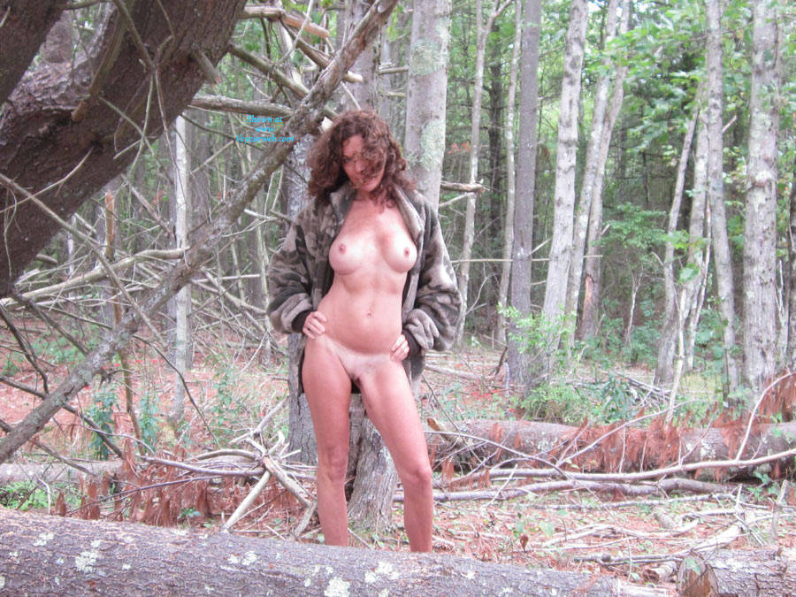 Pic #1 - Dojo In The Woods - Part 2 - Big Tits, Nude In Public, Shaved , I Enjoyed My Time In The Woods, So I Decided To Post More Pics!  I'm Wondering If A Certain Tall, Dark And Handsome Hunter Will See These Pics.  If He Does, I Hope He Votes Superb And Leaves A Nice Comment:-)
