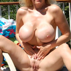 Extremely large tits of my girlfriend - sue13