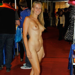 Bri On 'Eros And Amore 2014' - Big Tits, Blonde, Public Exhibitionist, Public Place, Shaved