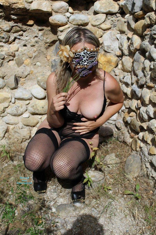 Pic #1 - Vive la Provence - Big Tits, Sexy Lingerie , The Nasty Silvie Enjoy The Beautiful Sunny Day Walk Among Fields Of Lavender In The Provence Countryside...between The Eyes Of The Farmers Discreetly Hidden In The Woods Surrounding