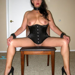 Tied Before Play - Big Tits, Brunette, High Heels Amateurs