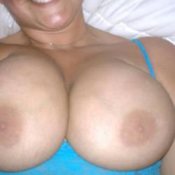 Medium tits of my girlfriend - stacy