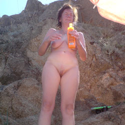 Nackt Am Strand - Big Tits, Brunette, Shaved