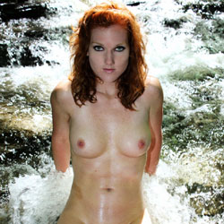 Amy Nude Outdoors - Big Tits, Nature, Redhead