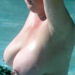 Very large tits of a neighbor - Wife's Friend