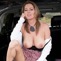 Kinky Car Ride - Big Tits, Shaved