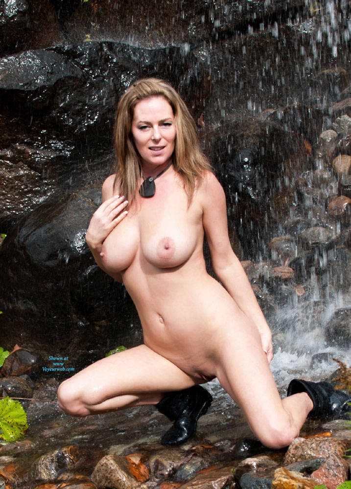 Public Naked mature outdoors