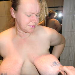 Large tits of my girlfriend - Antje