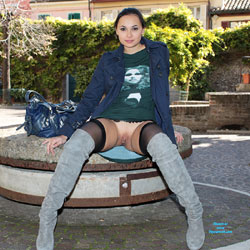 My Boots And My Pussy - Boots, Brunette Hair, Exposed In Public, Flashing, Navel Piercing, No Panties, Nude In Public, Nude Outdoors, Shaved Pussy, Hairless Pussy, Hot Girl, Pussy Flash, Sexy Face, Sexy Girl, Sexy Legs, Sexy Woman, Dressed, Young Woman