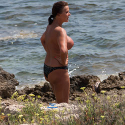 Nude Near A Clothed Beach - Beach, Big Tits