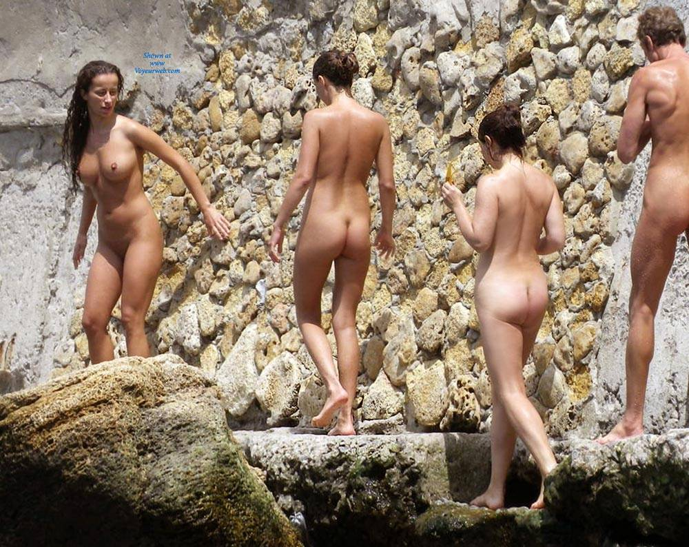 Shaved european nudists