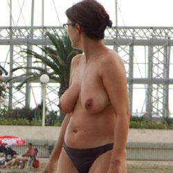 Wife Topless Beach
