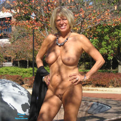 Hotnsexydi Outdoors - Shaved, Public Place, Public Exhibitionist, Blonde, Big Tits